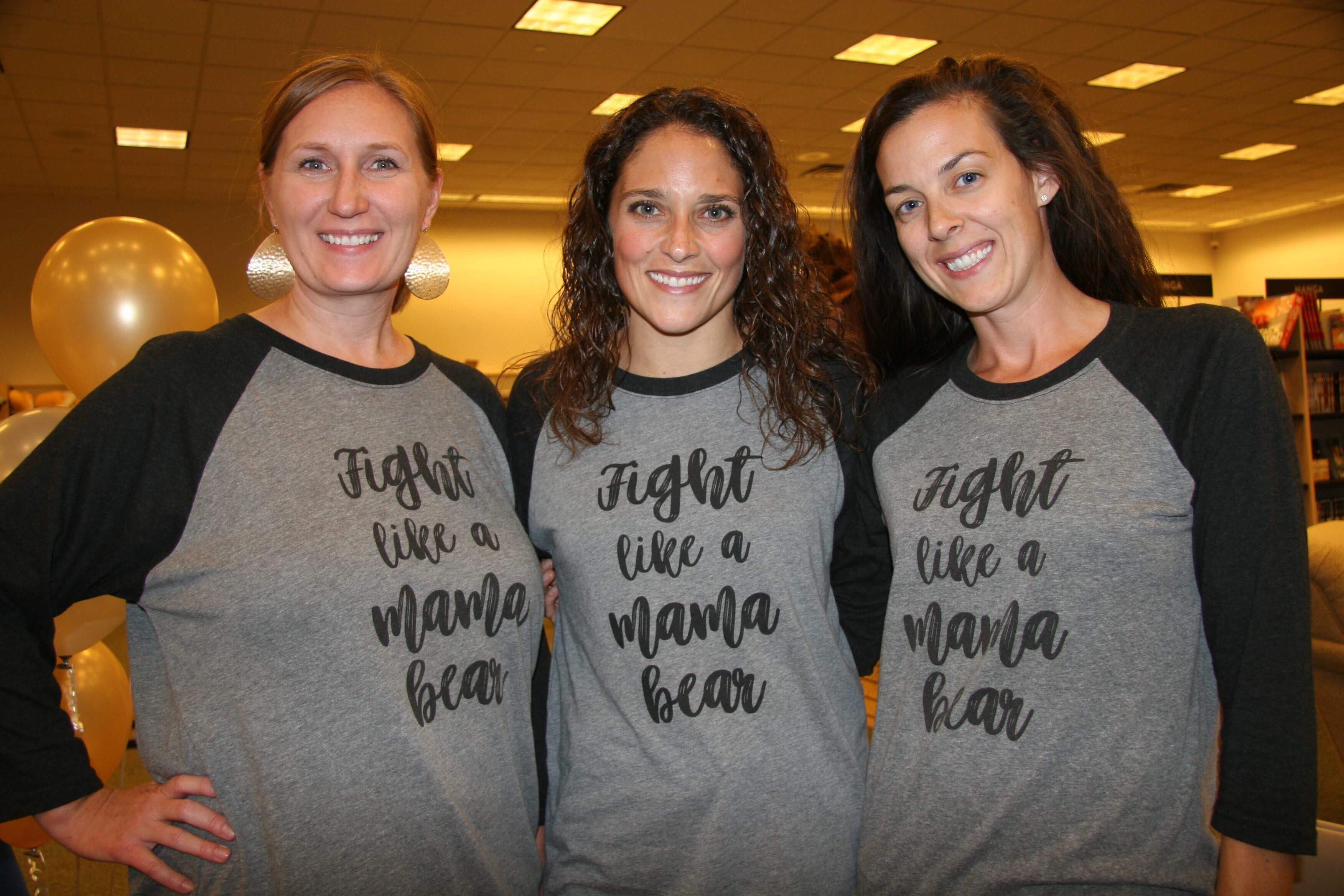 OKHPR members showing their fight like a mama bear shirts