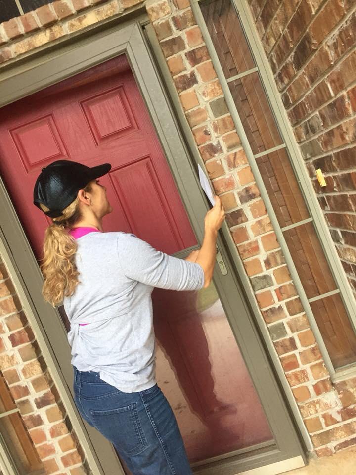 OKHPR member knocking on door