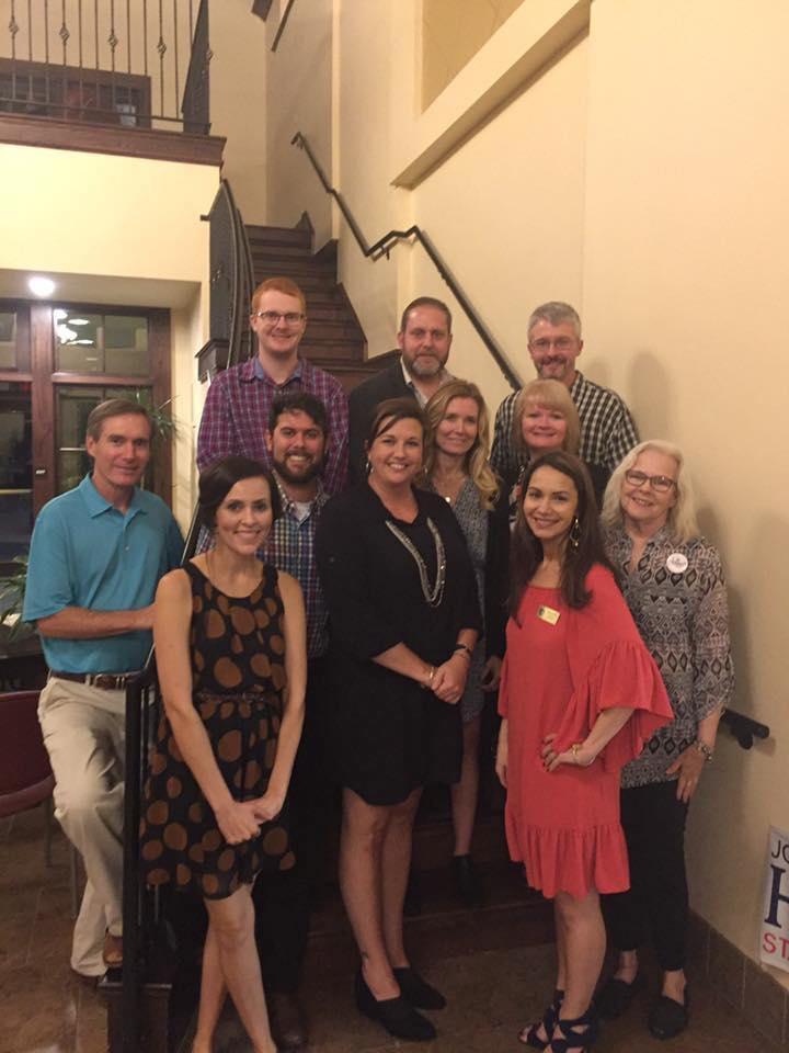 OKHPR members at dinner for state senator howell
